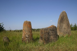 Megaliths with engraved figures in Tiya, southern Ethiopia