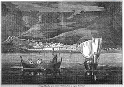 A cityscape of Funchal, 1834 as seen from the Bay