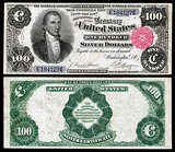 $100 silver certificate depicting Monroe