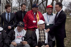 Hanks with World War II veterans in 2010