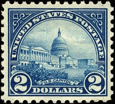 In 1922, the US Post Office featured the US Capitol on a US Postage stamp.