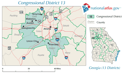 Georgia's 13th congressional district in 2010
