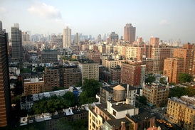 View of Manhattan's Upper East Side. Traditionally, the Upper East Side has been dominated by WASP families.[64][65]