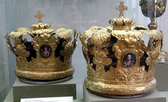 Russian-style wedding crowns, 19th century.