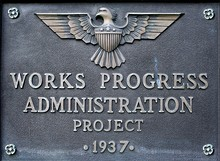 Typical plaque on a WPA project