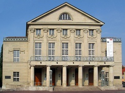 The Grand Ducal Theater in Weimar (now the Staatskapelle Weimar) was the site of the premiere of the complete Samson et Dalila on 2 December 1877.