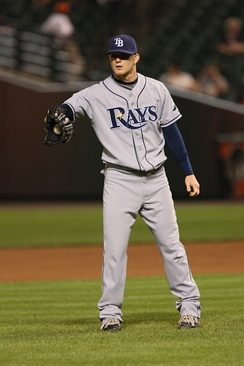 Howell during his tenure with the Tampa Bay Rays in 2008