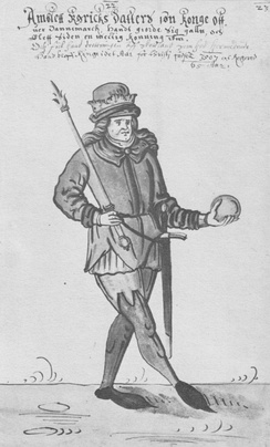 Amblett in a 17th-century Danish manuscript illustration
