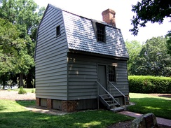 Johnson's birthplace and childhood home, located at the Mordecai Historic Park in Raleigh, North Carolina