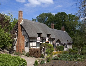 Anne Hathaway's Cottage, a timber-framed farmhouse