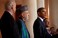 Hamid Karzai and Barack Obama in 2009
