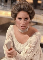 Barbra Streisand at Elstree Studios in England