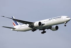 Boeing 777-300ER aircraft branded with Air France
