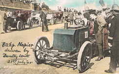Postcard picture of the Brighton Motor Trials – July 1905