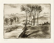 Landscape in Osny', 1887, etching on Holland paper. Museum of Fine Arts, Houston