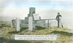Capt. John Smith Monument, as it appeared c. 1914, Isles of Shoals