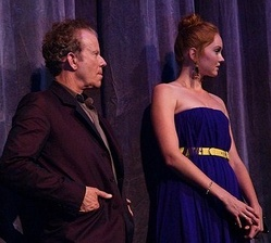 Tom Waits and Lily Cole, promoting the film at the 2009 Toronto International Film Festival.