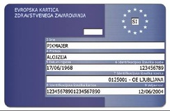 European Health Insurance Card(Slovenian version pictured)