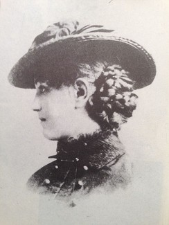 Ellen Axon, Wilson's future wife, in 1883