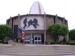 Front entrance to the Pro Football Hall of Fame