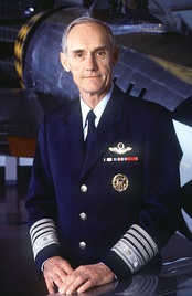 Merrill McPeak wearing the short-lived uniform redesign he proposed as Air Force Chief of Staff, 1993