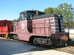 New York, Ontario and Western Railway 104, a General Electric 44-ton switcher preserved at the Southeastern Railway Museum, Duluth, Georgia