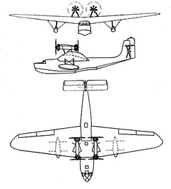 LeO H.242 3-view drawing from L'Aerophile July 1934