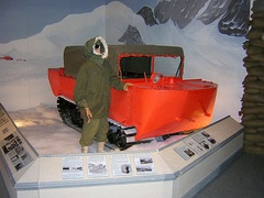 M29C Weasel in Arctic finish in a display at the U.S. Army Transportation Museum