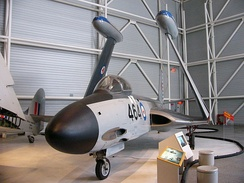 F2H-3 Banshee on display at the Canada Aviation and Space Museum