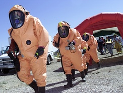 WMD/counter-terrorism training exercise at the Nevada Test Site.