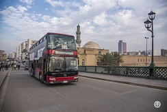 Double-decker bus in Baghdad, Iraq.