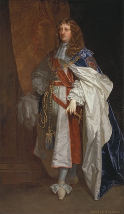 Portrait of Edward Montagu, 1st Earl of Sandwich, by Peter Lely, c. 1660–1665.