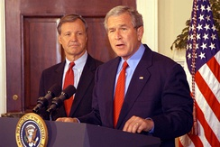 Cox with President George W. Bush in 2005