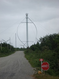 Éole, the largest vertical axis wind turbine, in Cap-Chat, Quebec, Canada