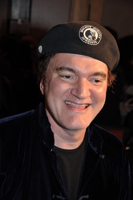 Tarantino in Paris at the film's French premiere, January 2013