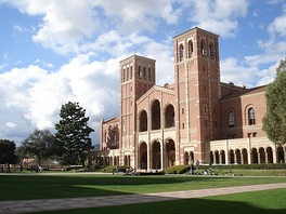 Royce Hall, one of the original four buildings, inspired by Basilica of Sant'Ambrogio