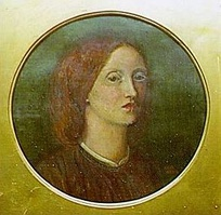 An 1854 self-portrait by Elizabeth Siddal, who acted as Millais' model for Ophelia.[6]