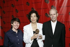 Susan Sollins and the crew of Art-21-Art in the Twenty-First Century at the 67th Annual Peabody Awards