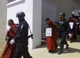 Tibetan monks arrested after the March, 14 unrest
