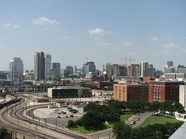 A view of the Uptown Dallas skyline.