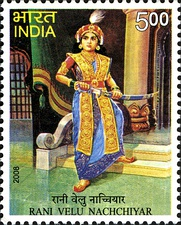 Velu Nachiyar, was one of the earliest Indian queens to fight against the British colonial power in India.