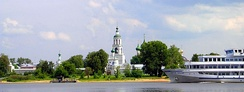 Many Orthodox shrines and monasteries are located along the banks of the Volga