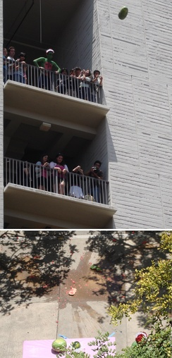 The June 2007 Watermelon Drop, an annual tradition at Revelle College
