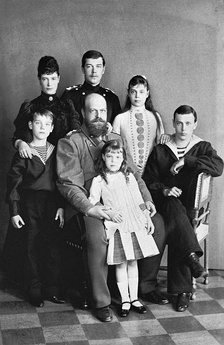 Alexander III with his wife and their children