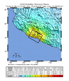 USGS ShakeMap for the event
