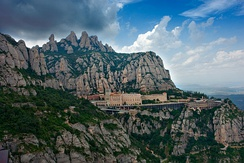 Mountain of Montserrat and the monastery