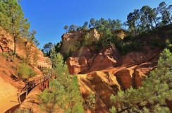 Geological formations near Roussillon, Vaucluse
