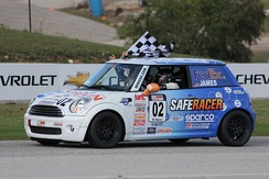 B Spec National Championship Runoffs Winner Charlie James in his Mini