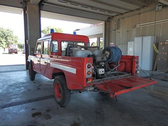 Land Rover conversion to fight forest fires, Cascina, Italy (August 2016)