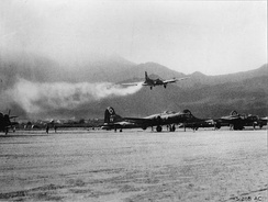 Emergency landing at Tortorella, Italy, 1944